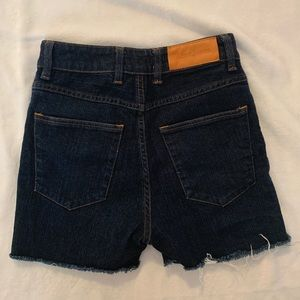 Acne High Waisted Cut-Off Jean Shorts